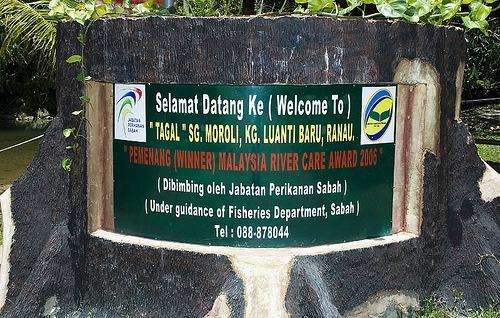 Spa Ikan di Sungai Moroli atau Tagal Luanti Sungai Moroli.